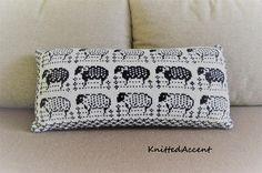 Hey, I found this really awesome Etsy listing at https://www.etsy.com/listing/526739667/knit-lumbar-pillow-cover-with-sheeps-and