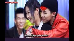 Big Bang's GD hugs 2NE1's Minzy  I love minzy and GDragon so this is perfect XD