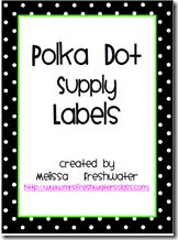 Free Polka-Dot Supply Labels (Classroom Supllies, Art Supplies, Math Manipulatives) @ mrs. freshwater's class