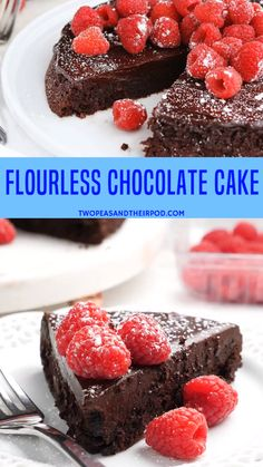 This Easy Flourless Chocolate Cake With A Silky Chocolate Ganache Glaze Is The BEST Chocolate Cake Recipe. It Is Rich, Decadent, And The Perfect Dessert for Valentine's Day. The Cake Is Gluten-Free And Super Decadent. Best Flourless Chocolate Cake, Chocolate Ganache Glaze, Flourless Chocolate Cakes, Chocolate Recipes, Healthy Chocolate Cakes, Chocolate Cake With Ganache, Chocolate Cake Recipe Videos, Flourless Desserts, Chocolate Videos
