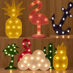 11 Style Optional Star Flamingo Moon Cloud Lamp Marquee Night Light Battery Led Light Desk Night Lamp For Kids Gift Decor Girls Room Wall Decor, Cute Room Decor, Room Ideas Bedroom, Bedroom Decor, Tropical Bedrooms, Girl Bedroom Designs, Aesthetic Bedroom, Neon Lighting, Girl Room
