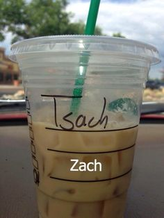 When Zach somehow became Tsach. | 27 Times Starbucks Failed So Hard It Almost Won
