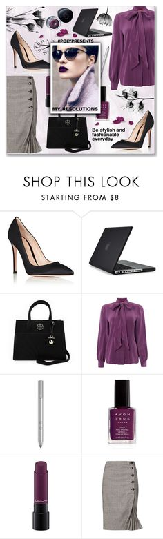 """""""#PolyPresents: New Year's Resolutions"""" by branqa on Polyvore featuring Gianvito Rossi, Speck, Loungefly, MaxMara, Avon, MAC Cosmetics, Banana Republic and Shiseido"""