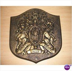 Vintage decorative Shield Crest coat of arms wall plaque