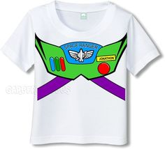 BUZZ LIGHTYEAR light year Space Ranger spacesuit tshirt PERSONALIZED. $13.95, via Etsy.