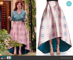 Evelyn's printed high-low maxi skirt on Devious Maids.  Outfit Details: http://wornontv.net/49457/ #DeviousMaids