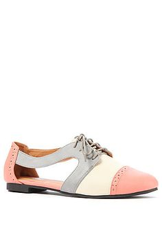 The Dying For Cut Out Flats in Coral and Grey>