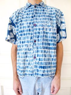 Vintage 60s Abstract Shibori Dyed Short by AndVintageClothing