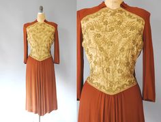 1940s Beaded Dress / The Bronze Age Dress / by wildfellhallvintage