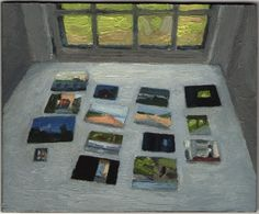 """verylargebuildings:  Eleanor Ray Paintings on the Drafting Table, 2012 oil on panel, 4 x 47/8"""" LINK"""