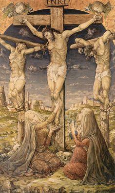 Leonard Foujita「十字架降下(Chapelle Foujita 壁画部分)」
