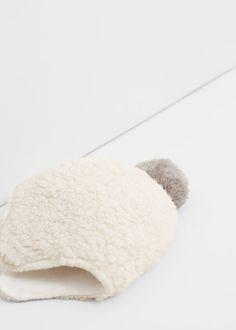 Bonnet imitation mouton à pompon -  Enfants   MANGO Kids Belgique