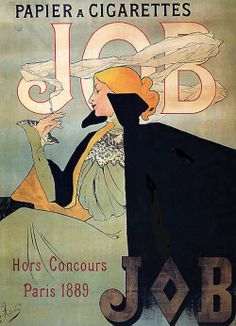 Jane Atché: Poster for Job Cigarette Paper 1889