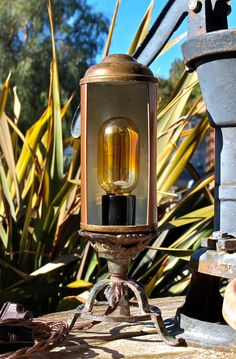 Copper Table Lamp Assemblage Lighting Night Light by Illumetery, $85.00