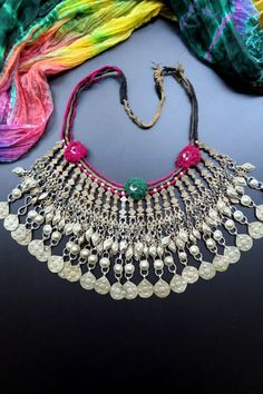 Afghan Kuchi Tribal Jewelry Vintage Necklace