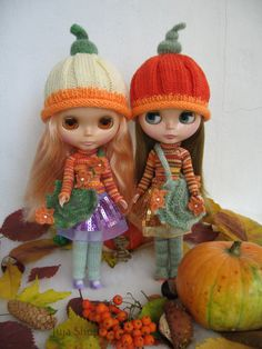 Knitted hat for Blythe made with love. Exclusive special for your doll by JujaShop