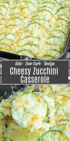 This creamy, cheesy Baked Zucchini Casserole is made with fresh zucchini, rich cream, and lots of cheese for the ultimate zucchini bake! It is an easy summer vegetable casserole that makes a great recipe to add to your meal plan. If you've been looking for a zucchini recipe to use up all of those summer zucchinis this is it! This baked zucchini is a great keto side dish or low carb side for summer. Zucchini Side Dishes, Low Carb Side Dishes, Vegetable Side Dishes, Side Dish Recipes, Recipe For Side Dishes, Best Vegetable Recipes, Great Recipes, Vegetarian Recipes, Cooking Recipes