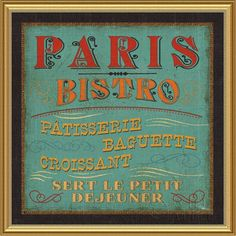 Paris Bistro Framed Print... Oh, to have a fresh croissant from a tiny Paris bakery again... nothing will ever compare.