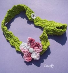 Crochet flower headband..    Hair Accesories    Summer fashion by oneof7, $6.50