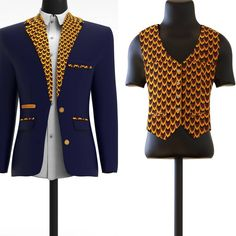 SUAVE Tailored slim fit blazers and waistcoat customised just for you. CHOOSE YOUR FABRIC Choose your fabric and design African Men Fashion, African Fashion Dresses, African Dress, Mens Fashion, African Style, Boys Uniforms, Afro, Wedding Suits, Dress Codes