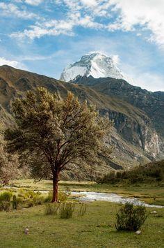 Point de départ du trek de la laguna 69 au Pérou