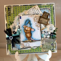 My newest card using the cute mouse by House Mouse Design