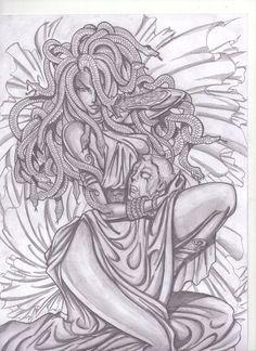 Medusa 2 by Osmar-Shotgun on DeviantArt Sketches, Medusa Tattoo, Art Drawings, Art Tattoo, Drawings, Mythology Tattoos, Sleeve Tattoos, Art, Dark Art