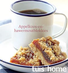 appelkoos of dadel en hawermout blokkies Low Carb Recipes, Baking Recipes, Cookie Recipes, Dessert Recipes, Dessert Bars, Cookie Desserts, Baking Ideas, Kos, Ma Baker