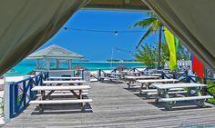 Coco Beach Bar deck, Treasure Cay Beach, Abaco Bahamas