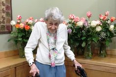Frances Steige's 105th birthday! A luncheon at Good Samaritan Society – Estes Park Village was hosted by her son, Walt, and his wife Paula, and her granddaughters flew in from Alaska. She has lived at the Village for 11 years and has many dear friends - both residents and staff - who joined the celebration, too. Frances was excited to receive many cards and gifts as well as 105 long stem roses to mark the milestone.  #GoodSamaritanSociety