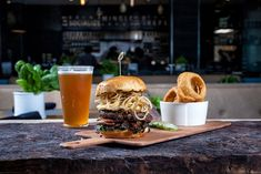 How does a Diablo-dusted bison burger with smoked cheddar, caramelized onions, bacon jam, arugula, and toasted brioche sound to the family? Treasure Island Beach, Sands Resort, Madeira Beach, Bacon Jam, Clearwater Beach, Bison, Caramelized Onions, Arugula, Beach Resorts