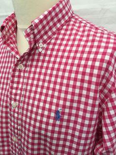 £35 Polo Golf #RalphLauren #Mens #Shirt Large Custom Fit #Gingham #menswear #mensfashion #shopify #macmenswear