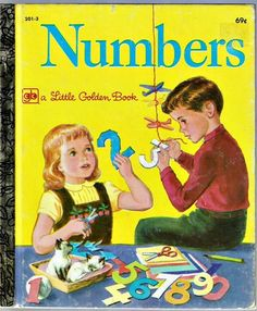 Vintage Children's Little Golden Book ~ NUMBERS ~ Mary Reed & Edith Osswald