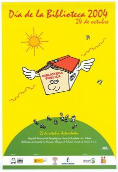 Año 2004. Autora del pregón: Maiasun Landa Autor del cartel: FORGES Acto de celebración: Biblioteca Regional de Toledo