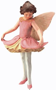 The Columbine Flower Fairy, the charm of Cicely Mary Barker's Flower Fairies has been brought to life in these precious figurines.