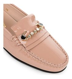 TODS - Gomma Lu Pin patent-leather driving shoes   Selfridges.com