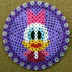 Daisy Duck coaster perler beads by tentenyama
