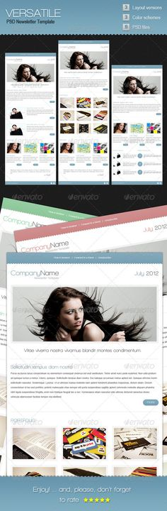 Buy Versatile Newsletter Template by grati on GraphicRiver. Versatile is a simple and clean newsletter template that can be easily customized to fit the need of any type of busi. Web Design Trends, Web Design Inspiration, 404 Pages, Great Fonts, File Organization, Wild Hair, Newsletter Templates, Infographic Templates