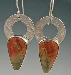 Berlin Randall - Cherry Creek Jasper & Sterling Earrings#raifordgallery#handmadejewelry#roswellga#atlantaga#sterling#artgallery#sterlingsilver