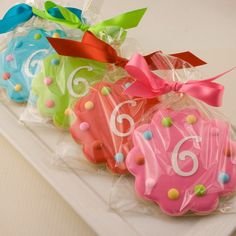 Birthday Cookie Favors (Monogrammed or Numbered) - 24 Decorated Sugar Cookies on Etsy, $66.00