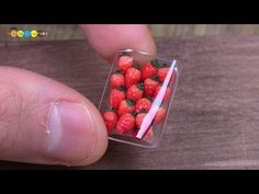 DIY Fake food - Miniature Strawberries ミニチュアいちごパック作り - YouTube