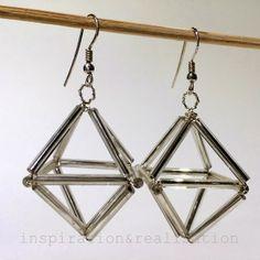 inspiration and realisation: DIY fashion blog: DIY himmeli earrings