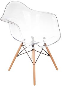 Replica Charles & Ray Eames Replica Chairs Replica Eames Eiffel DAW Clear Armchair #interiors #homedesign