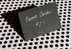 $1 PLACE cards and ESCORT cards in Custom by KoiKalligraphia on Etsy