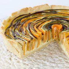 Spiral Vegetable Tart