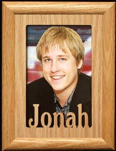5x7 Jonah  Portrait Laser Cut Oak PHOTO NAME FRAME  Holds a 4x6 or 5x7 Picture >>> This is an Amazon Affiliate link. See this great product.