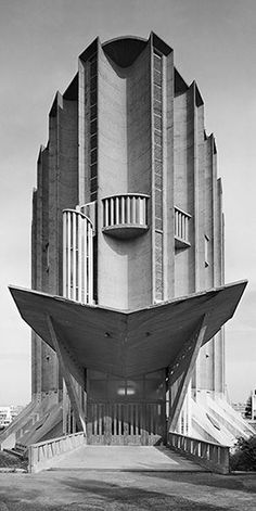 Notre Dame de Royan by Architects Guillaume Gillet & Marc Hebrard. Photo by… Monumental Architecture, Futuristic Architecture, Amazing Architecture, Contemporary Architecture, Architecture Details, Interior Architecture, Unusual Buildings, Interesting Buildings, Amazing Buildings