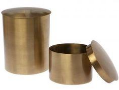 Home & Living :: Polished Brass Jars - Set of 2 -