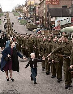 'Wait for Me, Daddy' On October 1, 1940, Private Jack Bernard and other volunteers in The British Columbia Regiment (Duke of Connaught's Own Rifles) were marching smartly down Eighth Street in New Westminster to board a ship and sail off to war. Suddenly, Bernard's five-year-old son broke free of his mother's grasp and sprinted into the military formation to take his smiling father's hand.
