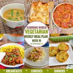 Slimming Eats Vegetarian Weekly Meal Plan – Week 10